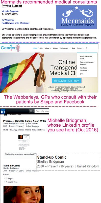 Dr Helen Webberley; Michelle Bridgman; Mermaids