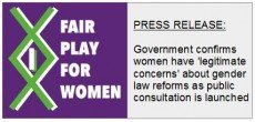 "Press release: Government confirms women have ""legitimate concerns"" about transgender reforms"