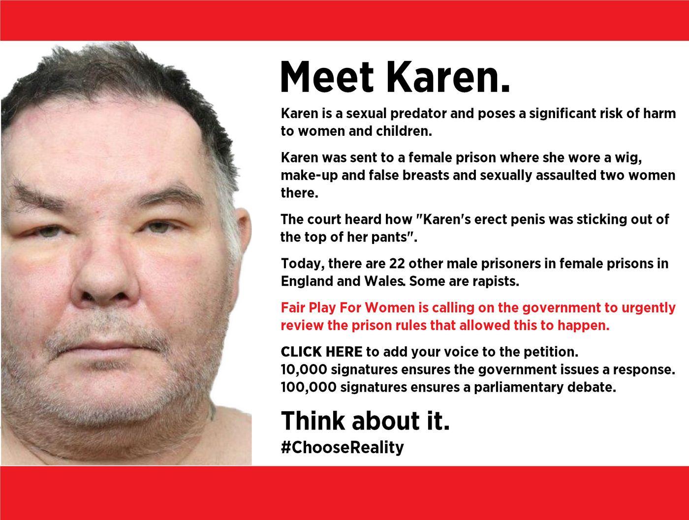 Karen White: transgender rapist in female prison | Fair Play For Women