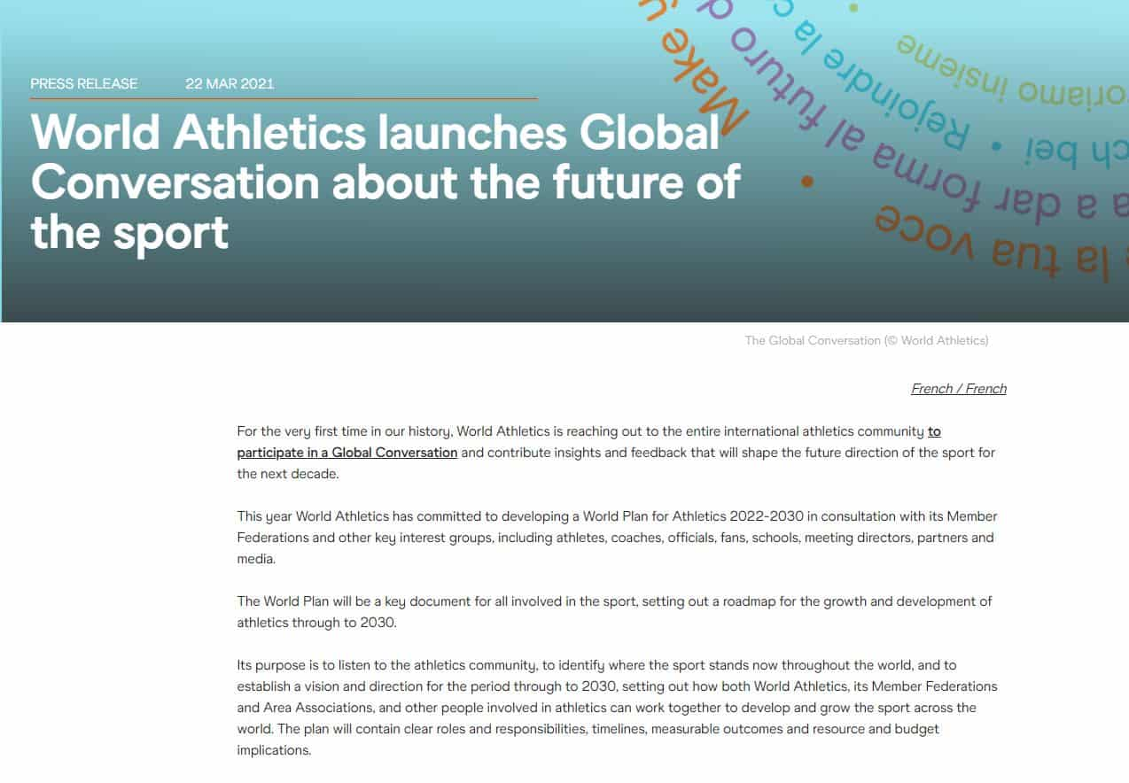 world athletics global conversation